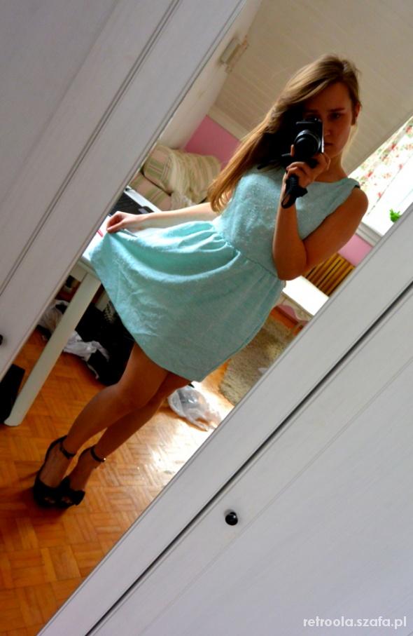 Eleganckie Pastelowa sukienka