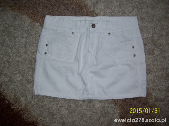 Spódnice Biała spódniczka mini Vero Moda