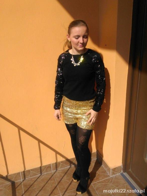Mój styl złoto czerń i cekiny D