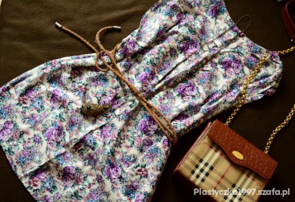 Tunika floral z kieszonkami