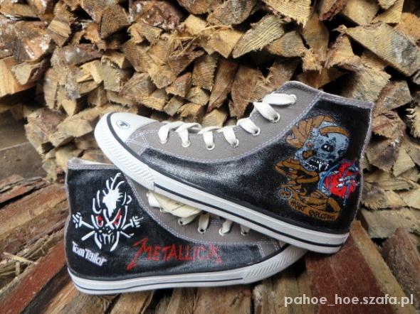 Trampki Metallica handmade malowane ręcznie w Trampki Szafa.pl