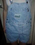 szorty ogrodniczki jeansowe denim