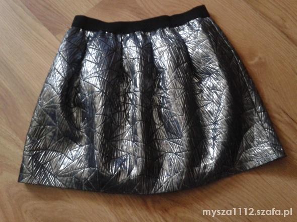 Spódnice stalowa rozkloszowana spodniczka