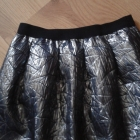 stalowa rozkloszowana spodniczka
