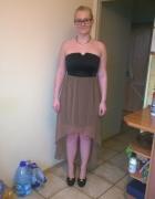 sukienka z imitacją skóry...