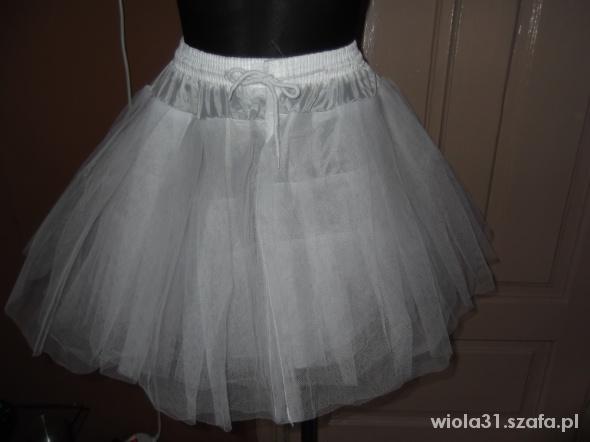 Spódnice Halka tiulowa biała lata 50 te