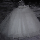 Halka tiulowa biała lata 50 te