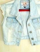 kamizelka jeansowa jeasn jasny 36