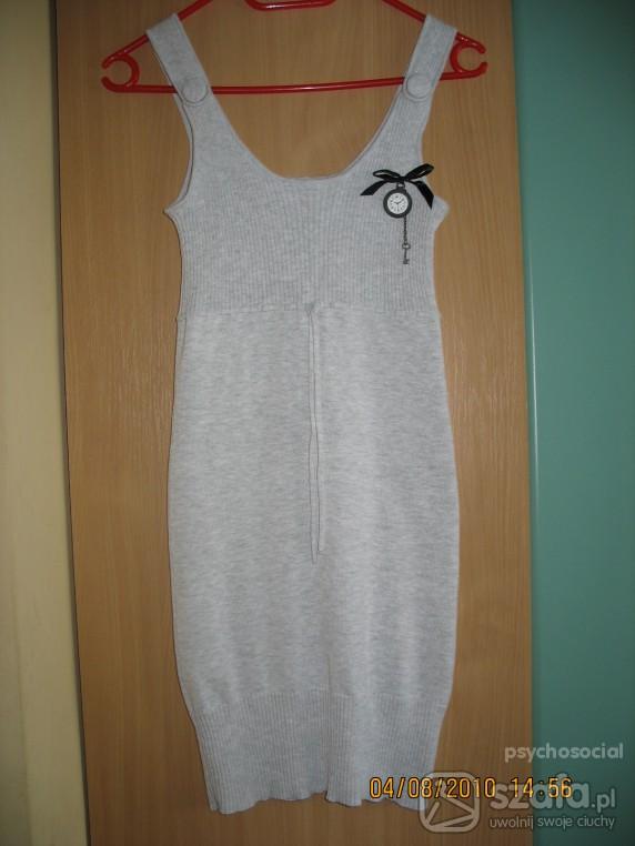 Suknie i sukienki szara sukienka cropp town