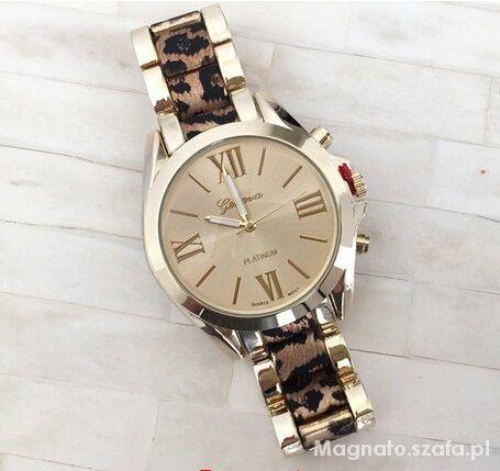 Zegarek złoty panterka geneva piękny