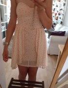 sukienka bershka s mgiełka jak nowa