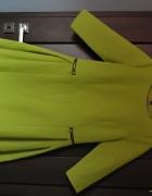 Nowa cytrynowa sukienka ze złotymi suwakami