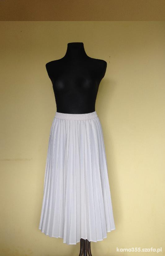 Kremowa spódnica plisowana 40