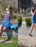 Szafirowe szpilki Blue heels