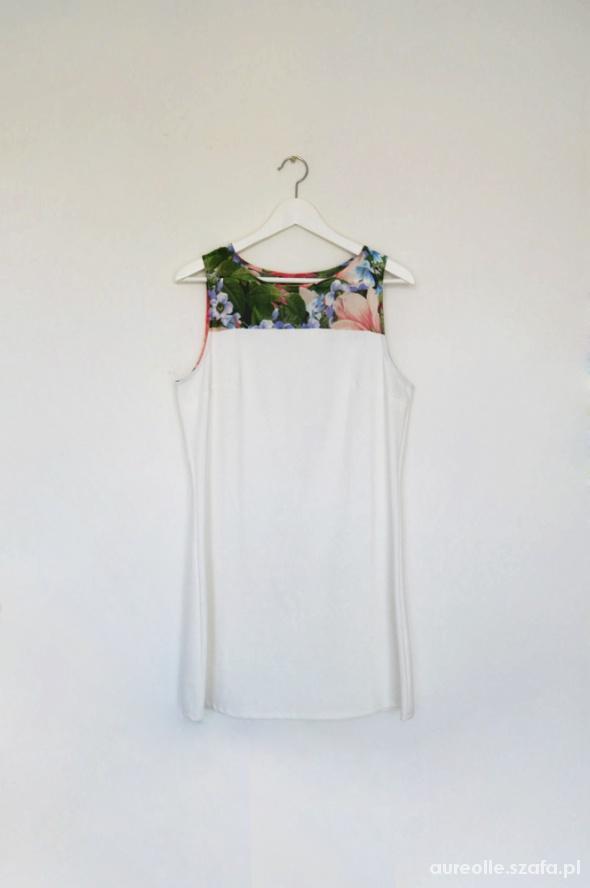d5b0c13a24 Letnia biała sukienka tunika Mohito w kwiaty L XL w Suknie i ...