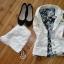 Biała Katanka i Floral Bluzeczka