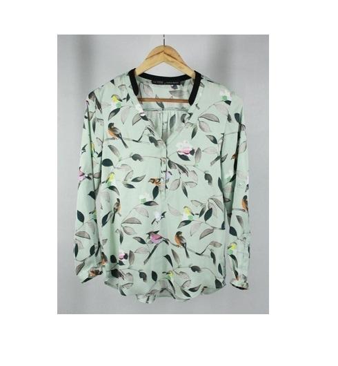 Bluzka koszula ptaki motyle