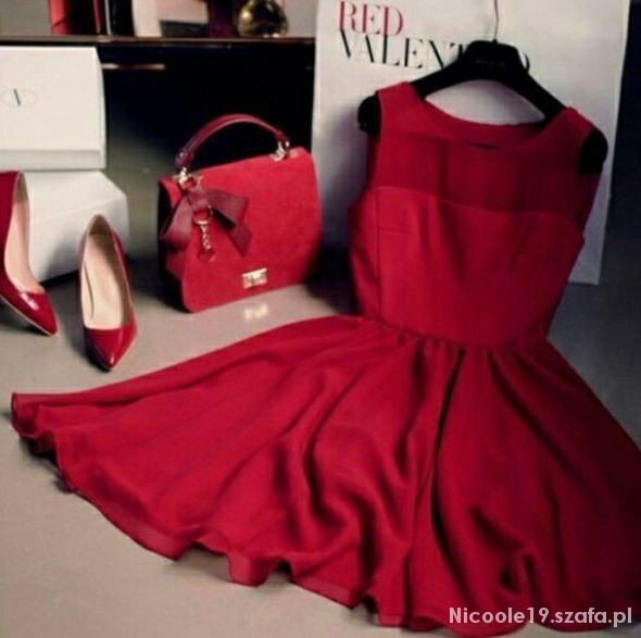 Eleganckie Sukienka Red Valentino