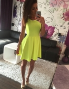 Sprzedam sukienke neon seledyn hit sezonu