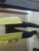 Żółta marynarka ala skórzane spodniee