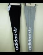 Legginsy Adidas szare czarne bawełna fitness