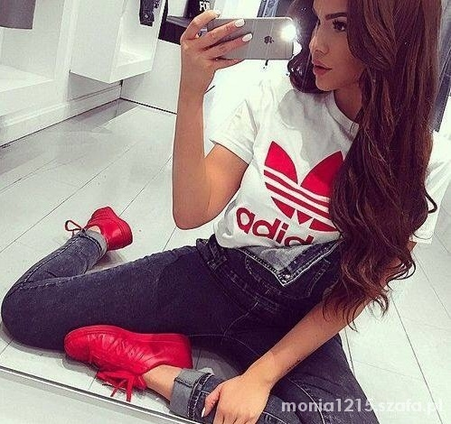 bluzka z logo adidas