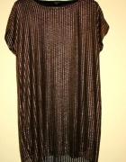 River Island sukienka tunika trapez zlota...