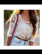 sliczna koronkowa bluzeczka