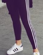 legginsy adidas rozmiar s czarne z białymi paskami