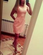 sukienka złoto pudrowa boutique