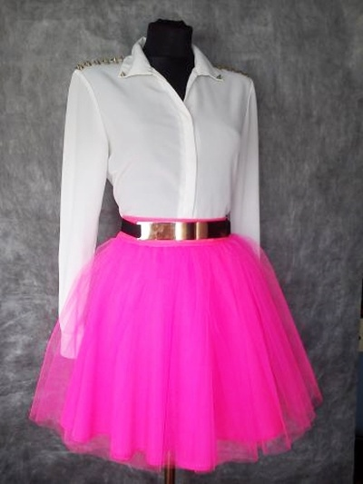 Spódnice neon neonowa rozkloszowana spodniczka
