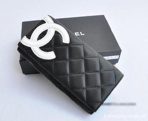 Nowy portfel CHANEL czarny pikowany replika