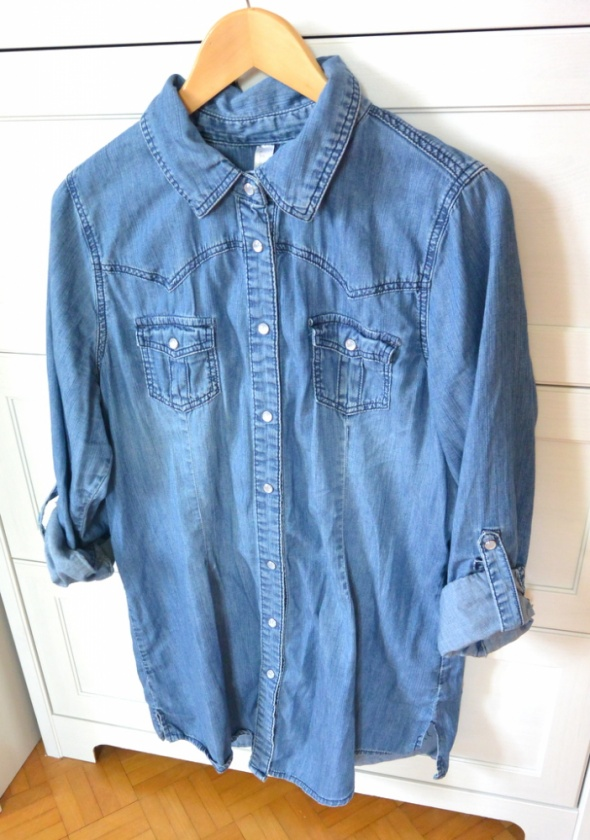 a61d28b080ca36 Jeansowa koszula tunika jeans XXXL 46 w Koszule - Szafa.pl