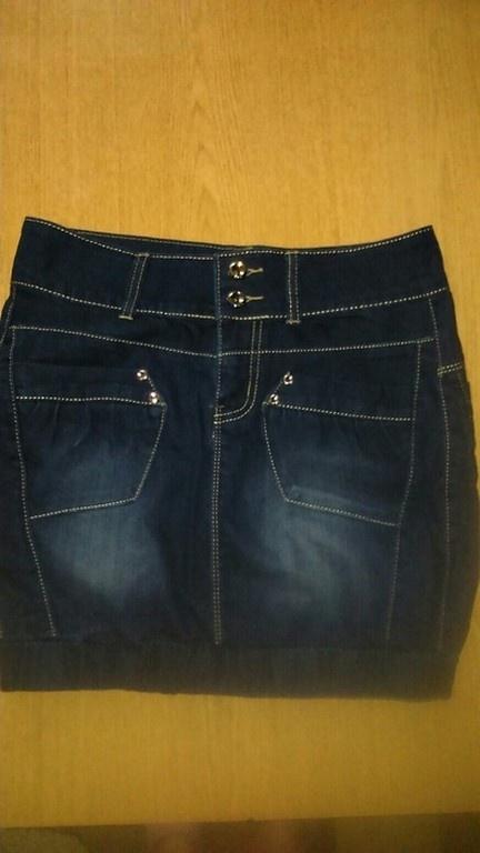 Spódnice Jeansowa spódnica typu bombka