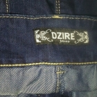 Jeansowa spódnica typu bombka