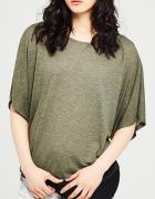 Reserved Oliwkowa bluzka oversize