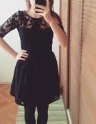 Pull&bear sukienka hafty siateczka guzik