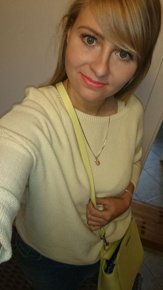 Codzienne mohito żółty sweterek