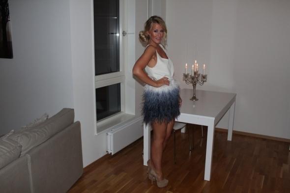 Na specjalne okazje zara piórka dekatyzowana spódnica blogerki 36 S
