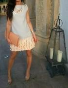 szara sukienka z falbanka