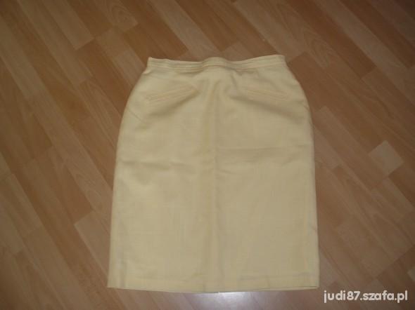Spódnice żółta letnia spódnica