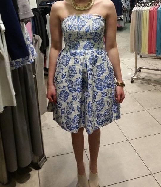 Jakie Buty Do Zloto Niebieskiej Sukienki W Suknie I Sukienki Szafa Pl
