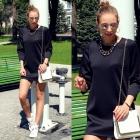 Black dress & sneakers