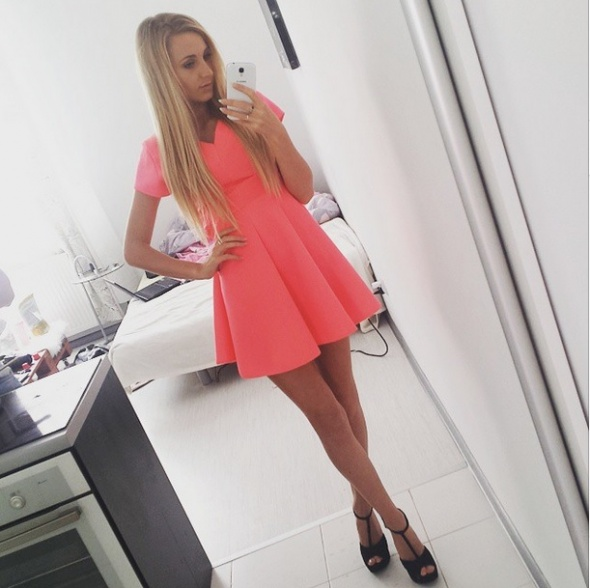 Mój styl pink dress