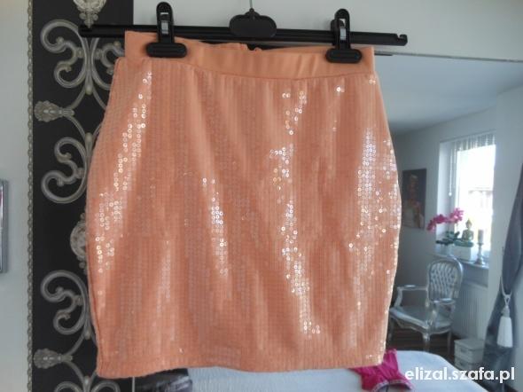 Spódnice Świetna Mini Łososiowa Cekinki H&M