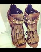 Sandałki Frędzle