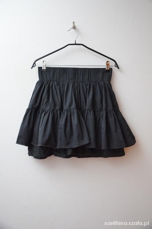 Spódnice H&M spódnica czarna rozkloszowana na gumie 38