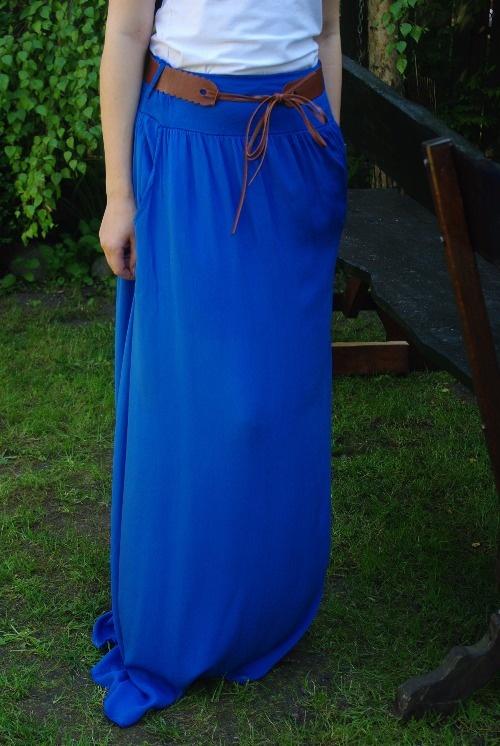 Spódnice MAXI zwiewna WŁOSKA DŁUGA spódnica ściągacz