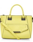 NEW LOOK żółta torebka trapez kuferek pastelove
