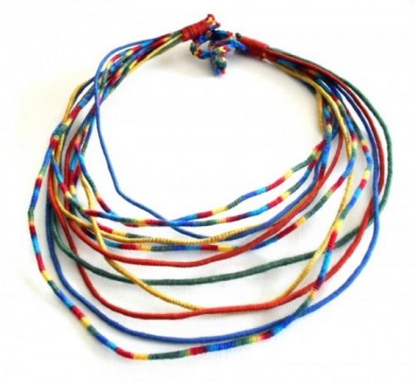 Kolorowy sznurek bransoletka